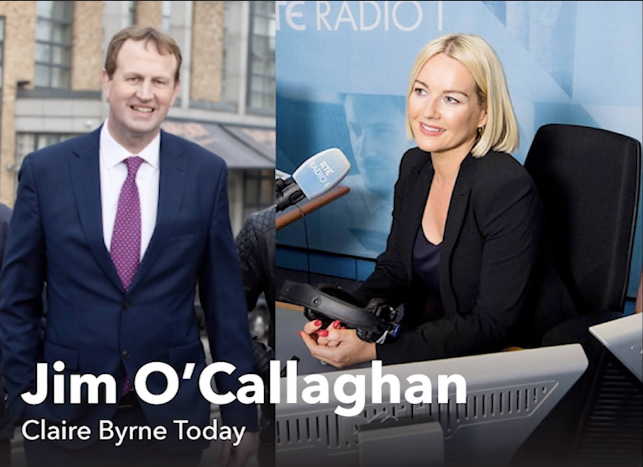 Jim speaking on Clare Byrne Show Image